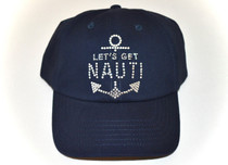 Dolly Mama Ladies Baseball Hat - Let's Get Nauti on Navy