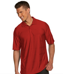 Antigua: Men's Essentials Short Sleeve Polo - Illusion 100943 (Dark Red, Size: Large) SALE