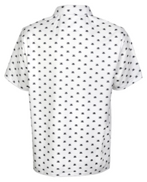 Tattoo Golf: Men's Micro Skull ProCool Golf Shirt - White