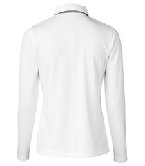 Daily Sports: Women's Luna Long Sleeve Polo - White (Size: Medium) SALE