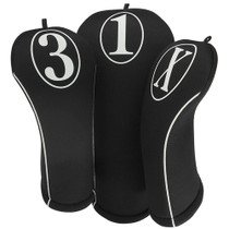 BeeJo's: Golf Headcover - Simple White Print (1 piece - 460cc Cover) SALE