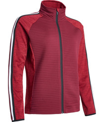 Abacus Sports Wear: Women's 3D Stripe Fullzip Cardigan - Turnberry