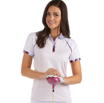 Antigua: Women's Performance Short Sleeve Polo - Futura 104308 (Plum Multi/White, Size: X-Large) SALE