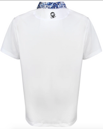 Tattoo Golf: Men's VIP Cool-Stretch Golf Shirt - White