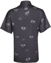 Tattoo Golf: Men's ProCool Golf Shirt - Aloha Hawaiian (Charcoal)