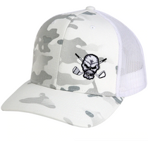Tattoo Golf: Camo Trucker Golf Hat - White