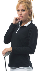 SanSoleil: Ladies SolShine Long Sleeve Mock - 900322