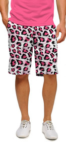 Loudmouth Golf: Men's StretchTech Shorts - Pink Leopard