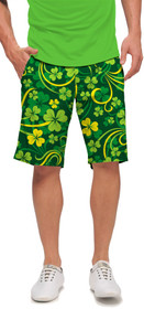 Loudmouth Golf: Men's StretchTech Shorts - Field of Clover