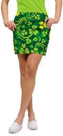 Loudmouth Golf: Women's StretchTech Skort - Field of Clover
