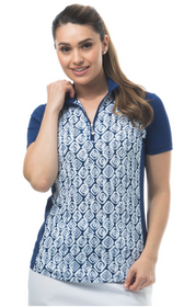 SanSoleil: Ladies UPF 50 SolCool Short Sleeve Mock - 900477