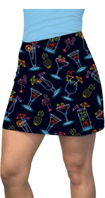 Loudmouth Golf: Women's Active Skort - Neon Cocktails