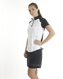 Chase 54: Women's Short Sleeve Mock Neck Polo - Rapid