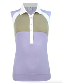 Daily Sports: Women's Agatha Sleeveless Polo Shirt - Purple Salvia