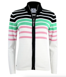 Daily Sports: Women's Awa Stripe Cardigan - White
