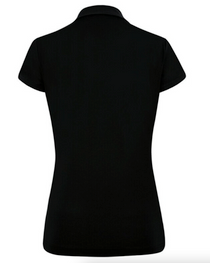 Daily Sports: Women's Elisia Short Sleeve Polo Shirt - Black