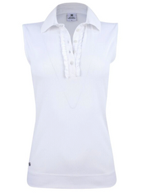 Daily Sports: Women's Elvira Sleeveless Polo Shirt -White