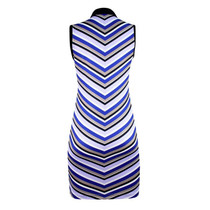 Daily Sports: Women's Nelly Sleeveless Stripe Dress - Royal Blue