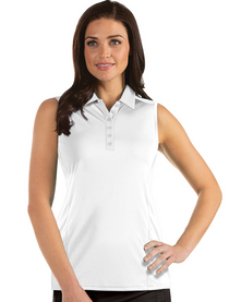 Antigua: Women's Essentials Sleeveless Polo - Tribute 104411 (Size: X-Small, White) SALE