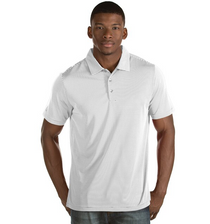 Antigua: Men's Essentials Short Sleeve Polo - Quest 101302 (Size: XXXL, 224 White/Silver) SALE
