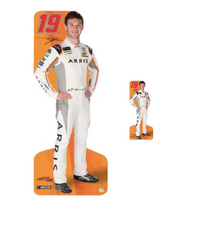 Team Image: Lifesize & Miniature Cardboard Cutout Combo - Daniel Suarez #18 (Orange)