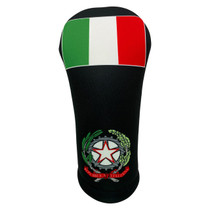 BeeJos: Golf Head Cover - Flag of Italy (Black)