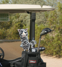 Daphne's HeadCovers - Black and White Cat Hybrid Golf Club Cover