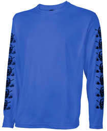 Tattoo Golf: Men's Long Sleeve Undershirt - Blue - LARGE (SALE)