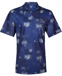 Tattoo Golf: Men's Performance GTX Cool-Stretch Golf Shirt - Blue