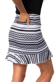 Golftini: Women's Pull-On Ruffle Stretch Skort - Ice Cream Sandwich (Size: X-Large) SALE