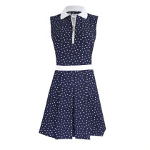 Daily Sports: Women's Eileen Polka Dot Sleeveless Dress - Navy