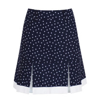 "Daily Sports: Women's Eileen 18"" Skort - Navy Polka Dot"