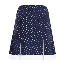 "Daily Sports: Women's Eileen 20.5"" Skort (longer style) - Navy Polka Dot"