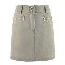 "Daily Sports: Women's Glam 20.5"" Skort (longer style) - Sandy Beige"