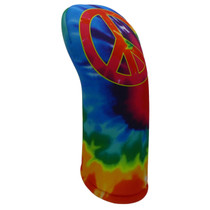 BeeJos: Golf Head Cover - Tie-Dye Peace