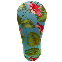 BeeJos: Golf Head Cover - Light Blue Hawaiian Print