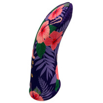 BeeJos: Golf Head Cover - Purple Pink Hawaiian Print
