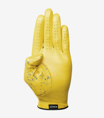 Asher Golf: Mens Premium Golf Glove -  Lemon