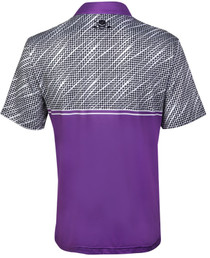 Tattoo Golf: Men's  Houndstooth Cool-Stretch Golf Shirt - Purple