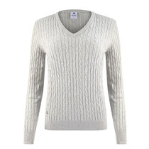 Daily Sports: Women's Madelene Cable Knit Pullover - Pearl Gray