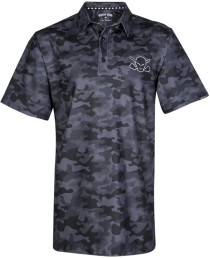 Tattoo Golf: Men's Camo Cool-Stretch Golf Shirt - Black