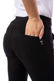 Golftini: Women's Trophy Pull-On Stretch Twill Pant - Black
