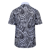 Zebra in the Print Mens Golf Polo Shirt by ReadyGOLF