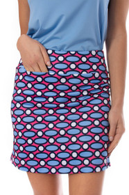 Golftini: Women's Pull-On Stretch Skort - Rock and Roll