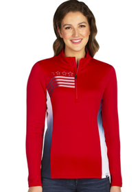 Antigua: Women's Performance Pullover - Liberty 104391 (Size: XXX-Large, 359 Dark Red/White/Navy) SALE