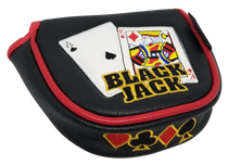 Black Jack Embroidered Putter Cover - Mallet by ReadyGOLF