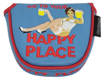 Happy Place Embroidered Putter Cover - Mallet V2