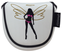 ReadyGolf: Sexy Angel Embroidered Putter Cover - Mallet