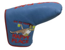 Happy Place Embroidered Putter Cover - Blade by ReadyGOLF