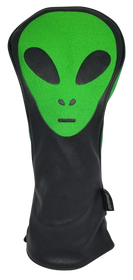 Green Alien Embroidered Driver Headcover by ReadyGOLF